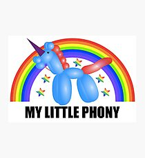 My Little Phony Photographic Print