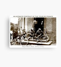 TOUR DE FRANCE; Vintage Taking A Break Print Canvas Print
