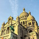 Sacre Coeur Cathedral on Montmartre Paris France by rafo