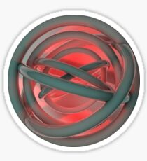 Abstract 3D Circle Sticker