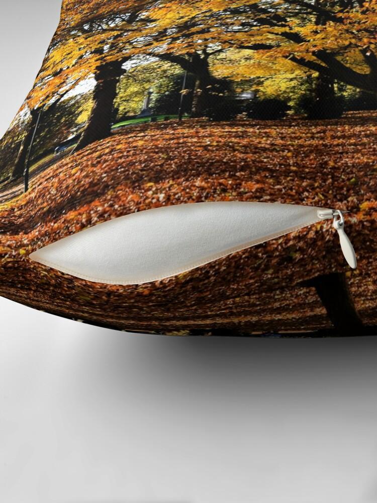 Alternate view of Autumnal scene Throw Pillow