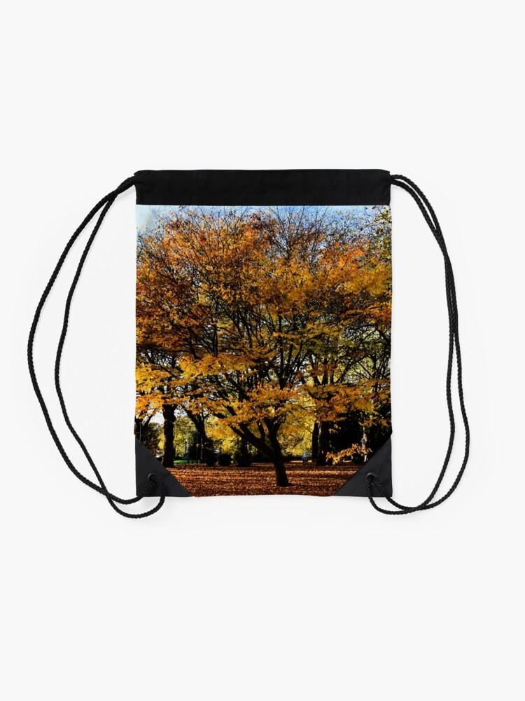 Alternate view of Autumnal scene Drawstring Bag