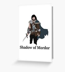 Talion, the shadow of Mordor Greeting Card