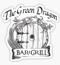 The Hobbit Green Dragon Bar & Grill Shirt T-Shirt Sticker