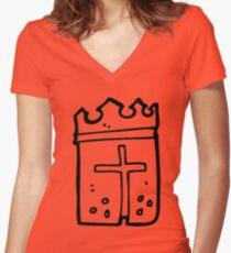 king arthur Women's Fitted V-Neck T-Shirt