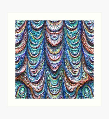 Frozen liquid Impression #DeepDream #Art Art Print
