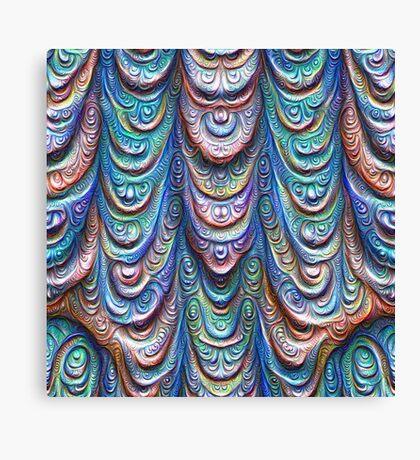 Frozen liquid Impression #DeepDream #Art Canvas Print