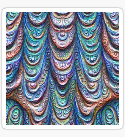Frozen liquid Impression #DeepDream #Art Sticker