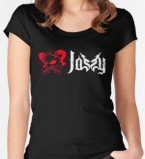 Jassy JJ's One Girl Band - LOGO OFFICIAL WHITE Women's Fitted Scoop T-Shirt