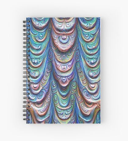 Frozen liquid Impression #DeepDream #Art Spiral Notebook