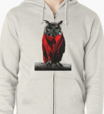 The Owls Are Not What They Seem Zipped Hoodie