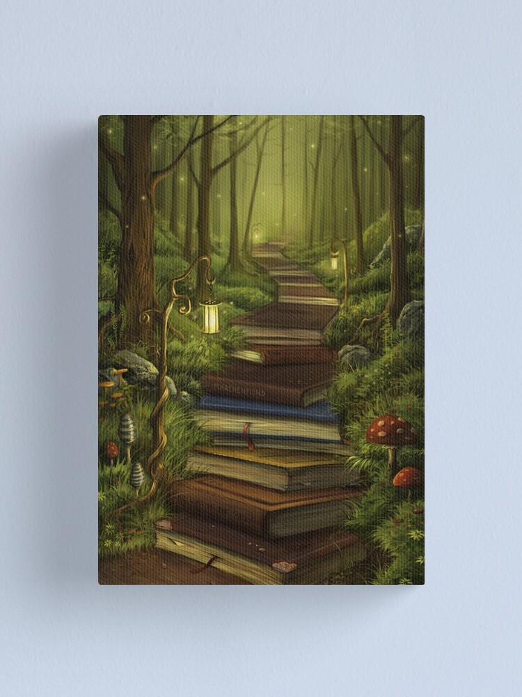 Alternate view of The Reader's Path Canvas Print