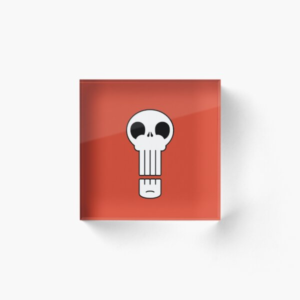 Long Skull Acrylic Block