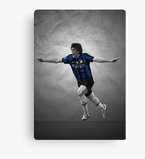 Diego Milito - Inter Milan Champions League 2010 Canvas Print