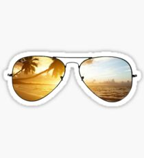 Ray Bans Beach Sticker