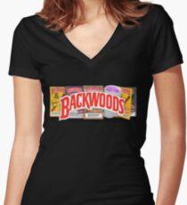 BACKWOODS VINTAGE HIPHOP SHIRT Fitted V-Neck T-Shirt