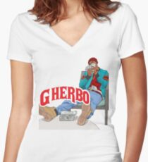 G HERBO YEA I KNOW SHIRT Women's Fitted V-Neck T-Shirt