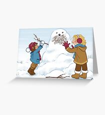 Little Durins and a snow Dwalin Greeting Card