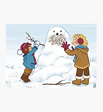 Little Durins and a snow Dwalin Photographic Print