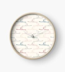 Pattern with colorful flamingos Clock