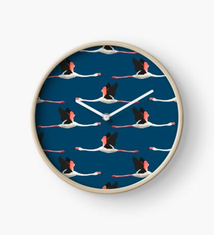 Pattern with flamingos Clock