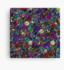 crystal balls mix color transparent Canvas Print