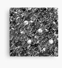 crystal grey balls mix transparent Canvas Print