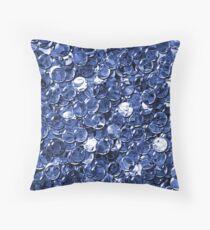 crystal blue balls mix transparent Throw Pillow