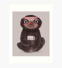 Sloth I♥lazy Art Print