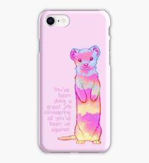 """""""You've Been Doing a Great Job"""" Sunrise Stoat iPhone Case/Skin"""