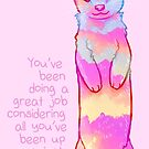 """""""You've Been Doing a Great Job"""" Sunrise Stoat by thelatestkate"""