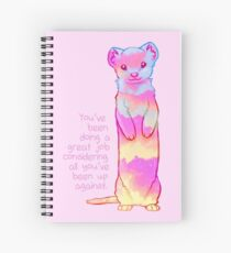 """""""You've Been Doing a Great Job"""" Sunrise Stoat Spiral Notebook"""