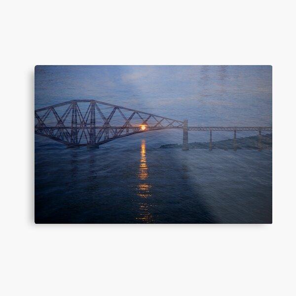 Forth Rail Bridge at Sunset #2 Metal Print