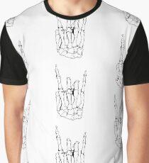 Skeleton Rocker Hand Graphic T-Shirt