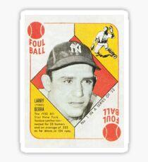 Larry Yogi Berra Baseball Card Vintage 1950 Sticker