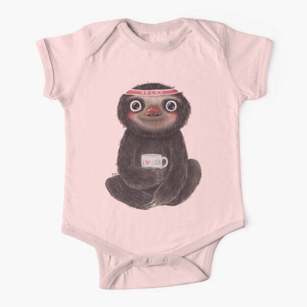Sloth I♥yoga Short Sleeve Baby One-Piece