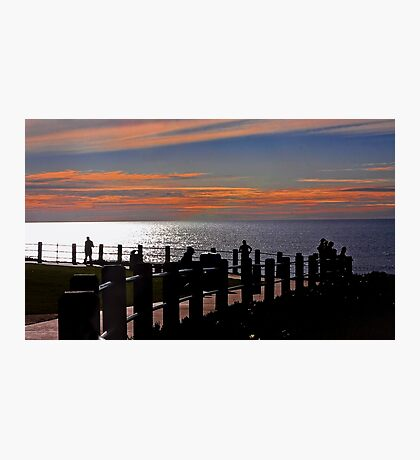 La Jolla Path at Sunset Photographic Print