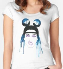 Adore Delano Watercolor Women's Fitted Scoop T-Shirt