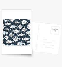 CAUGHT - A School of Fish  Postcards