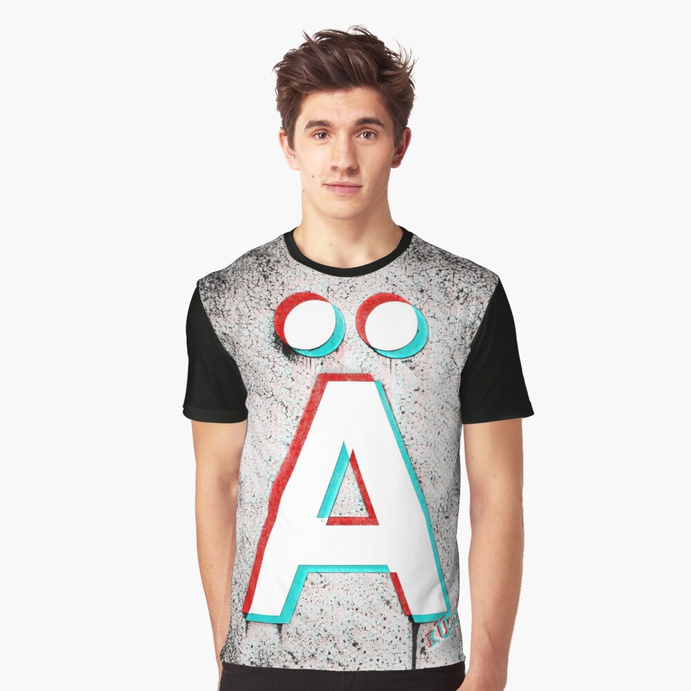 3D Anarchy Graphic T-Shirt Front