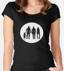 Guardians of the Galaxy peter quill and friends  Women's Fitted Scoop T-Shirt