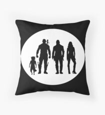 Guardians of the Galaxy peter quill and friends  Throw Pillow