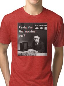 Ready for the machine learning age? (8-bit 3D) Tri-blend T-Shirt