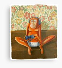 Monkey play Metal Print