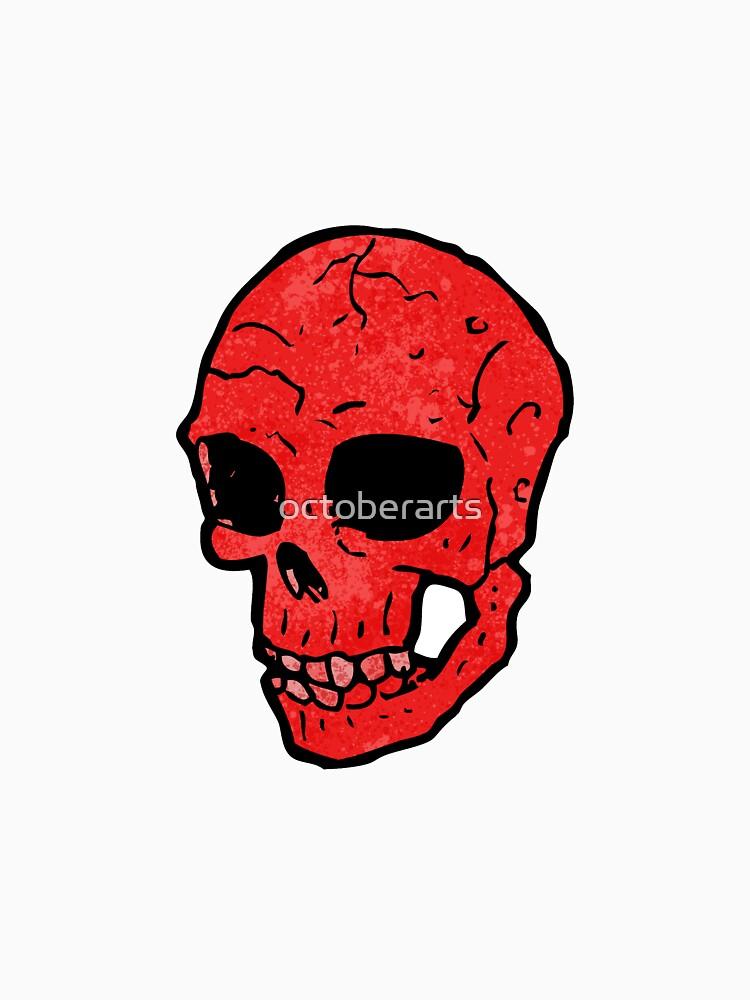 spooky skull cartoon by octoberarts
