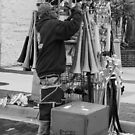 The Street Vendor by John  Kapusta