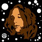 tina puckering up (Space-mode) by 45thAveArtCo