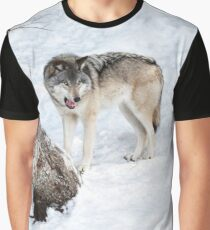 Mmm, that human tasted good - Timber wolf! Graphic T-Shirt
