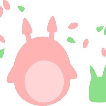 Pastel Totoro by conniekidd