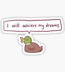 Positive Duck Sticker